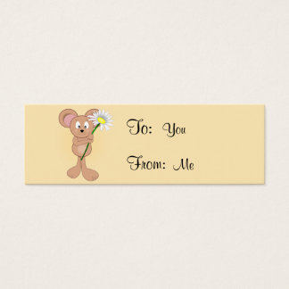 Mouse with Flower Mini Business Card