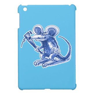 mouse with hard plank blue iPad mini covers