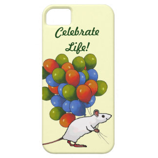 Mouse With Huge Cluster Of Balloons, Celebrate iPhone SE/5/5s Case