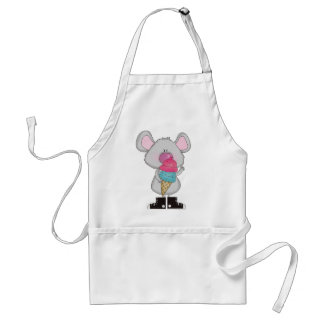 Mouse with Ice Cream Tshirts and Gifts Adult Apron
