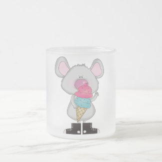 Mouse with Ice Cream Tshirts and Gifts Frosted Glass Coffee Mug