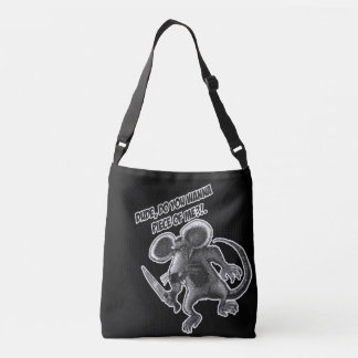 mouse with knife crossbody bag
