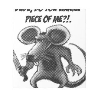 mouse with knife notepad