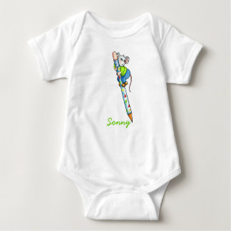 Mouse with Pencil Baby Shirt