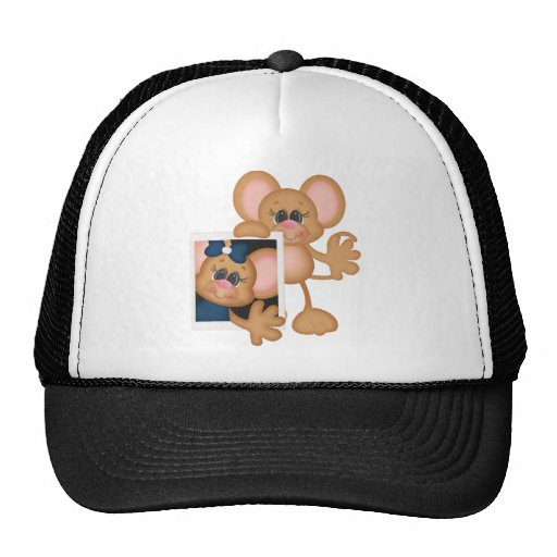 Mouse with picture mesh hats