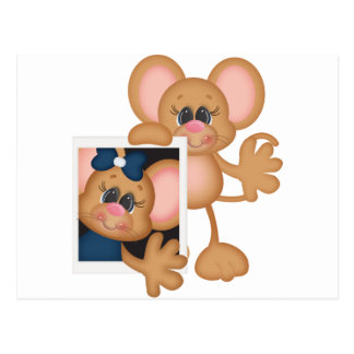 Mouse with picture postcard