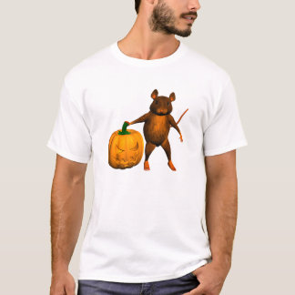 Mouse with Pumpkin T-Shirt