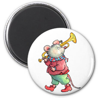 Mouse with Trumpet Magnet