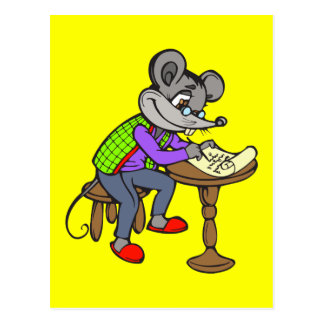 Mouse Writing Letter Postcard