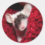 Mouse - Zorro Round Sticker