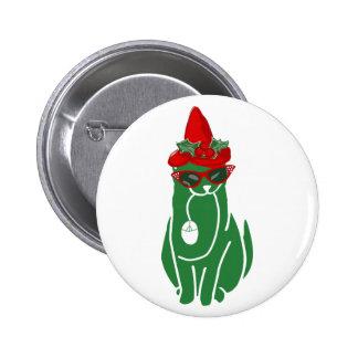Mousebreath Christmas Cat Pinback Button