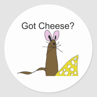MouseGotCheese Round Stickers