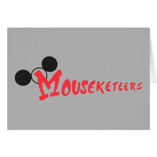 Mouseketeers With Ears Card