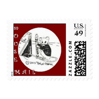 MouseMail Postage Stamp by Dawn The Artist