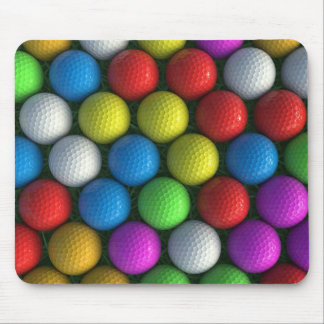 Mousemat | Array of Coloured Golf Balls Mouse Pad