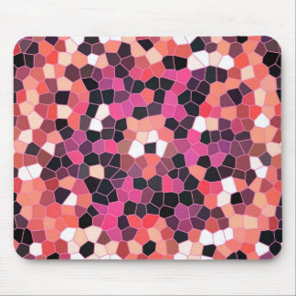 Mousemat Bright Light to Dark Pinks Tiles Design Mouse Pad