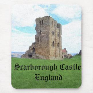 Mousemat de Inglaterra del castillo de Scarborough Alfombrillas De Ratón