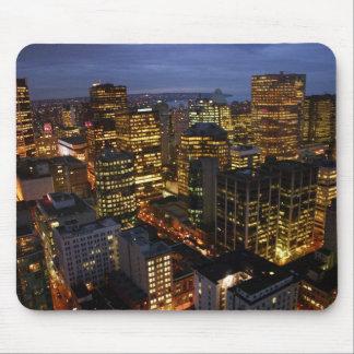 Mousemat de la noche de Vancouver Tapetes De Raton