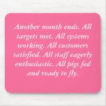 Mousemat de los cerdos del vuelo alfombrillas de ratón