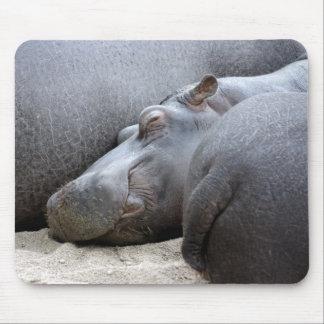 Mousemat feliz del hipopótamo tapetes de ratón