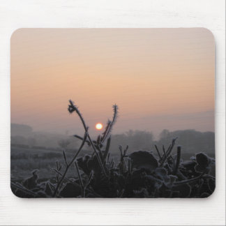 mousemat/frosted field at dusk, Scotland Mouse Pad