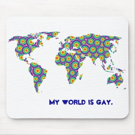 Mousemat gay del mundo de la burbuja del arco iris mousepad