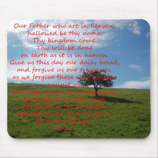 Mousemat Lords Prayer Mouse Pad