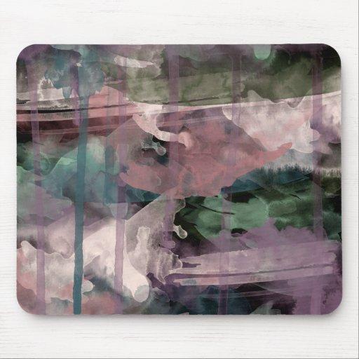 Mousemat, pintura abstracta, aceituna púrpura rosa tapetes de raton
