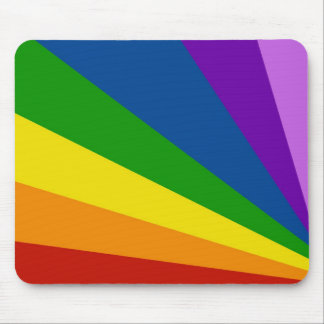 Mousemat Rainbow Stripe Zoom Abstract Design Mouse Pads