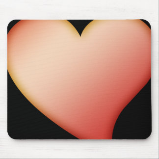 Mousemat Red Heart, Customizable Image & Backgroun Mouse Pad