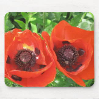 MOUSEMAT/SCARLET POPPIES MOUSE PAD
