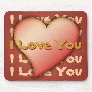 Mousemat, te amo, corazón, texto del personalizar/ tapete de ratón