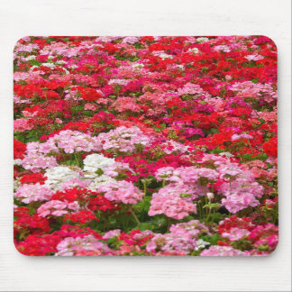 Mousemat Vertical - Field of Geranium Flowers Mouse Pad