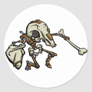 Mousemech Scarbot Classic Round Sticker