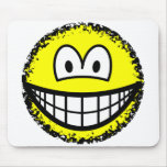 Fuzzy smile or smile after accidentally falling into the washing-machine  mousepad