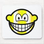 Stripey smile   mousepad