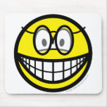 Smile with glasses   mousepad