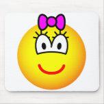 Girl emoticon   mousepad