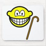 Walking cane smile   mousepad
