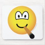 Cigar emoticon   mousepad