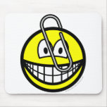 Paperclipped smile   mousepad