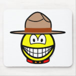 Canadian mountie smile   mousepad