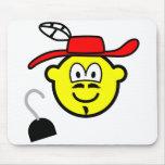 Captain hook buddy icon Peter Pan  mousepad