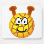 Giraffe emoticon   mousepad