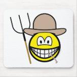 Farmer smile   mousepad
