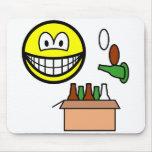 Bottle bank smile Recycling  mousepad