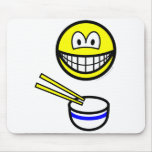 Chop sticks smile Rice bowl  mousepad