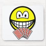 Card playing smile   mousepad