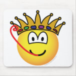 Frog king emoticon   mousepad