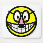 Disguised smile   mousepad